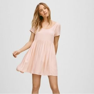 Aritzia Talula Pink Babydoll Mini Dress